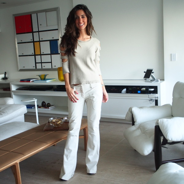 Luiza Sobral look do dia all white