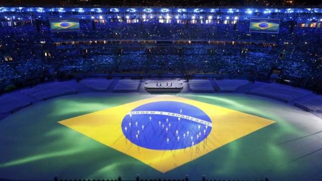 Bandeira do Brasil cerimônia de encerramento rio2016 maracanã
