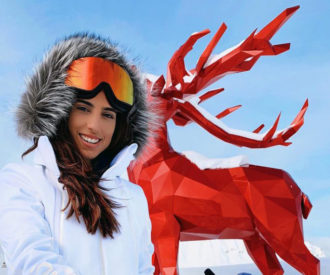 Luiza Sobral Courchevel Look Ski Neve